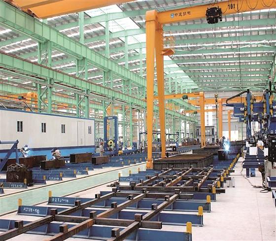 18亿元的中国建筑钢构西部制造基地项目生产车间.-一张蓝图绘到底